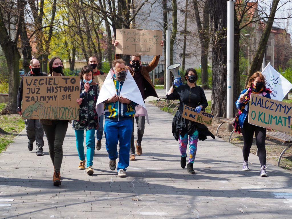 Protest przeciwko kopalni w Mysłowicach