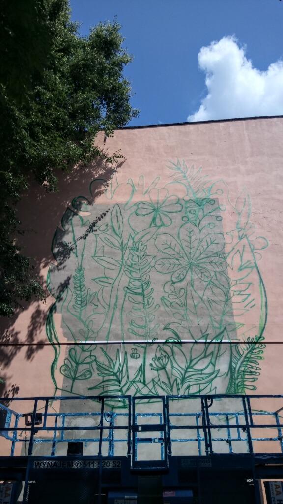 Rozpoczynamy malowanie muralu
